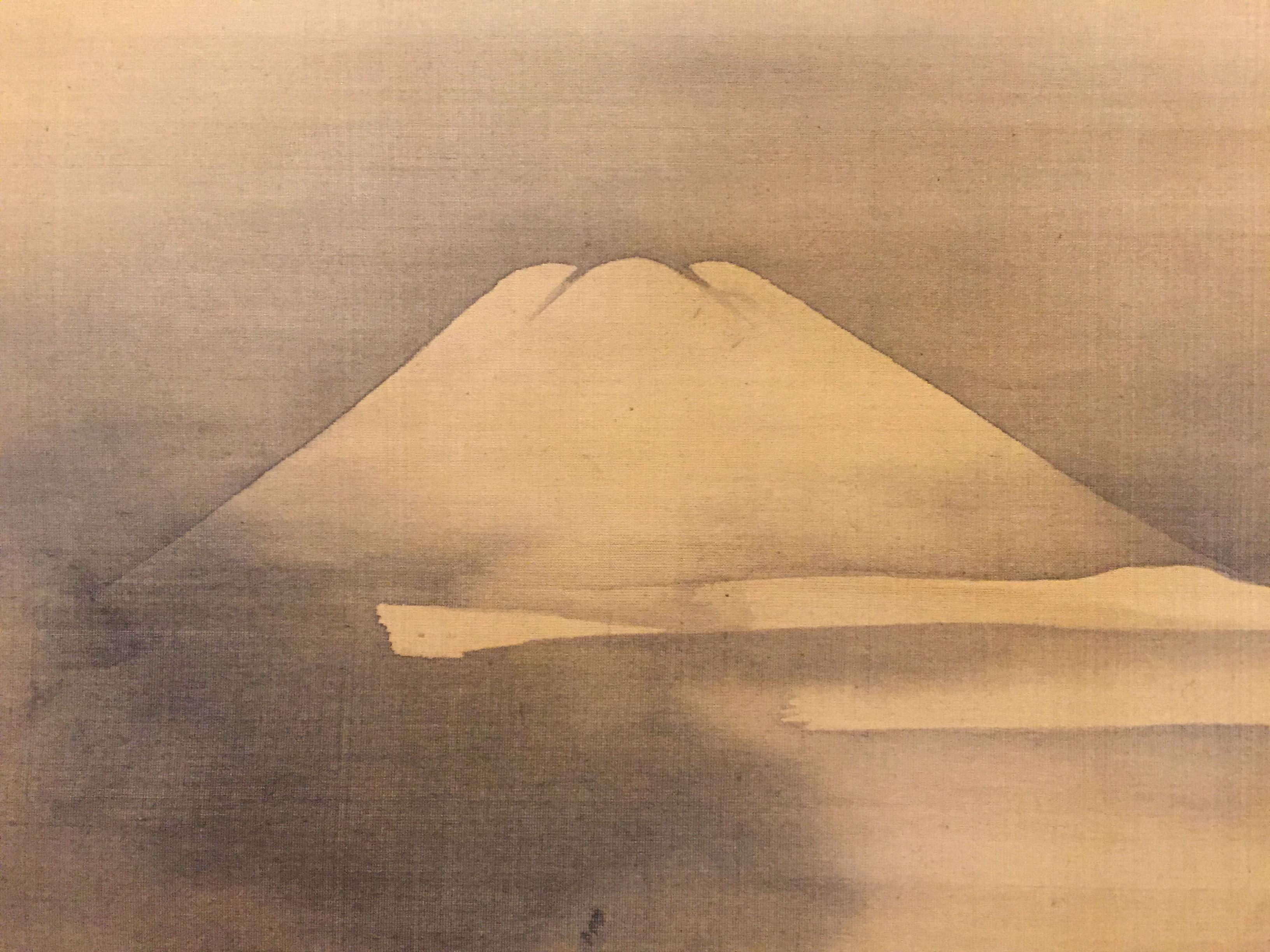 Scroll for all year round ,`Choyo Fuji-zu` [Painting of Mt. Fuji at Sunrise] by Kano Tsunenobu(狩野常信)