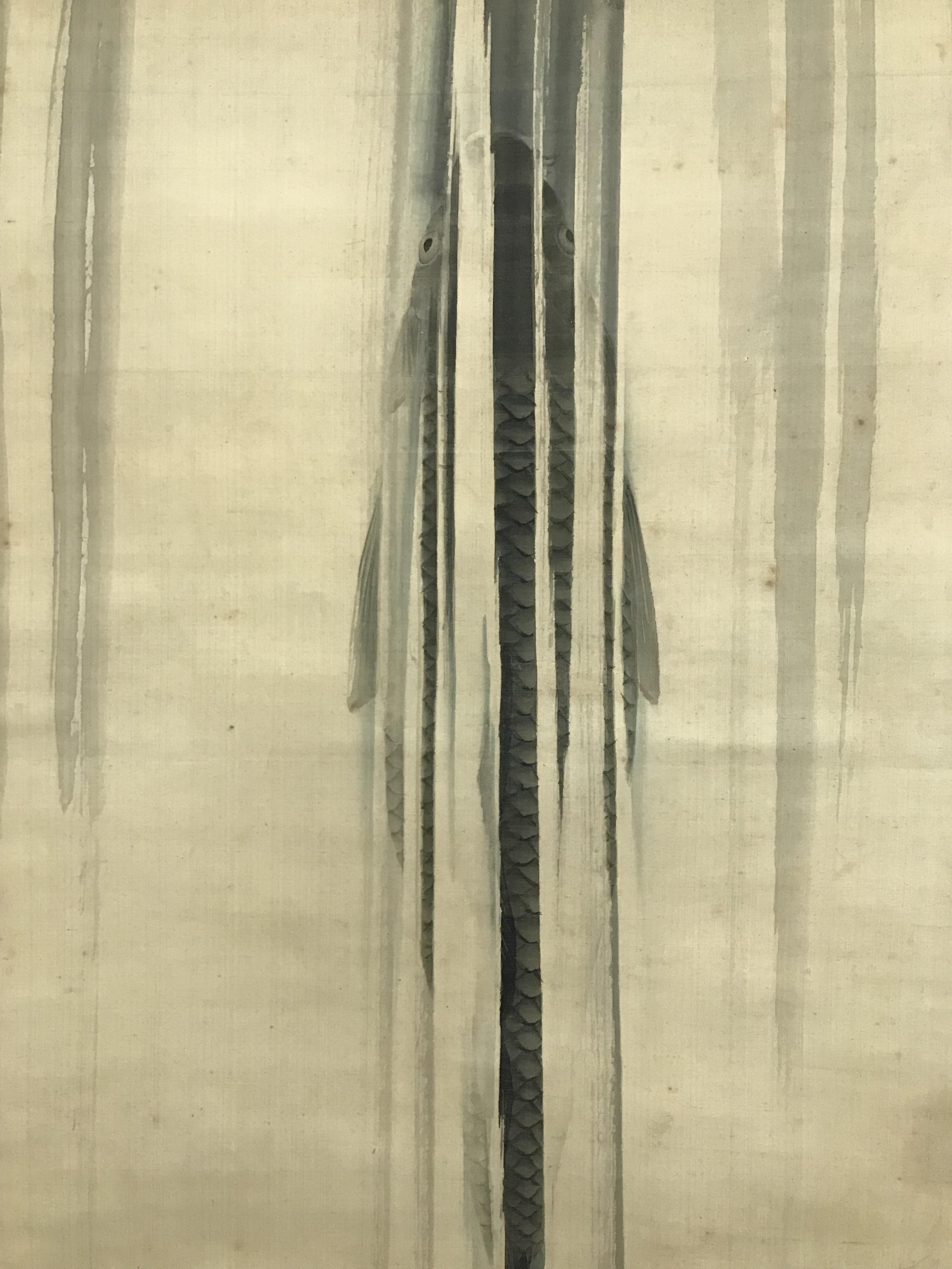 円山応瑞筆 /登竜門図  の掛軸