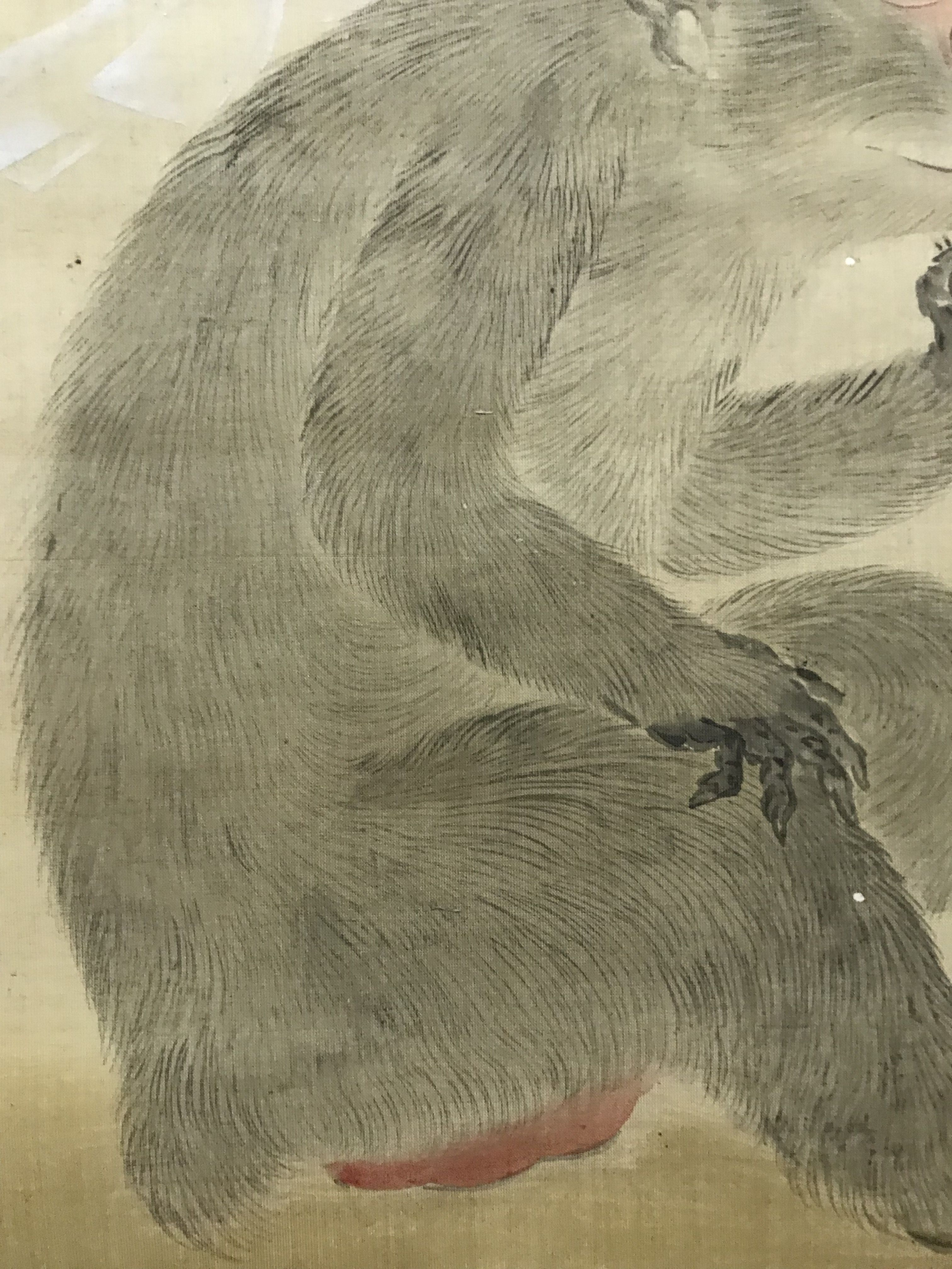 鶴沢探索 筆 神猿図