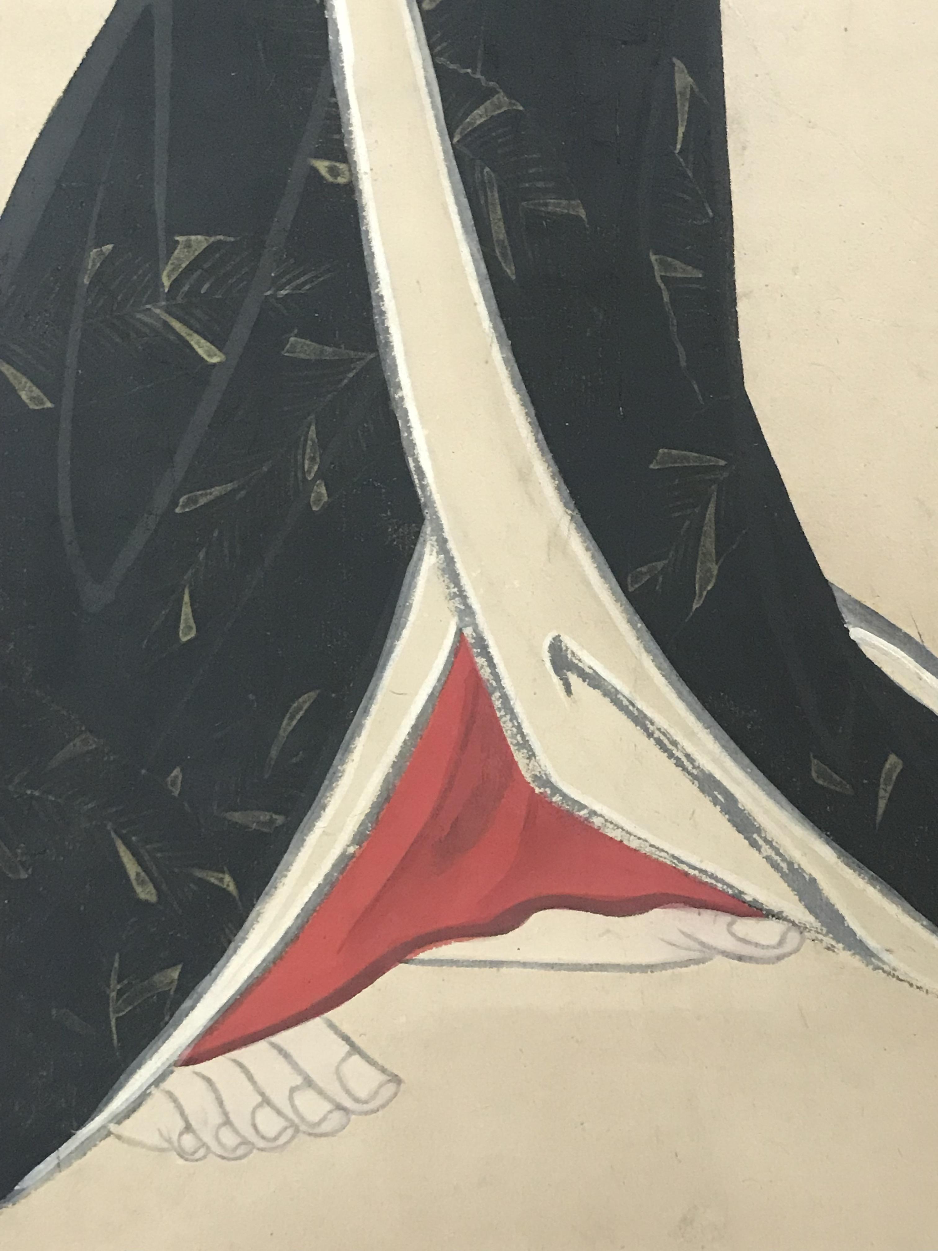 柳島八重女筆 立ち美人図