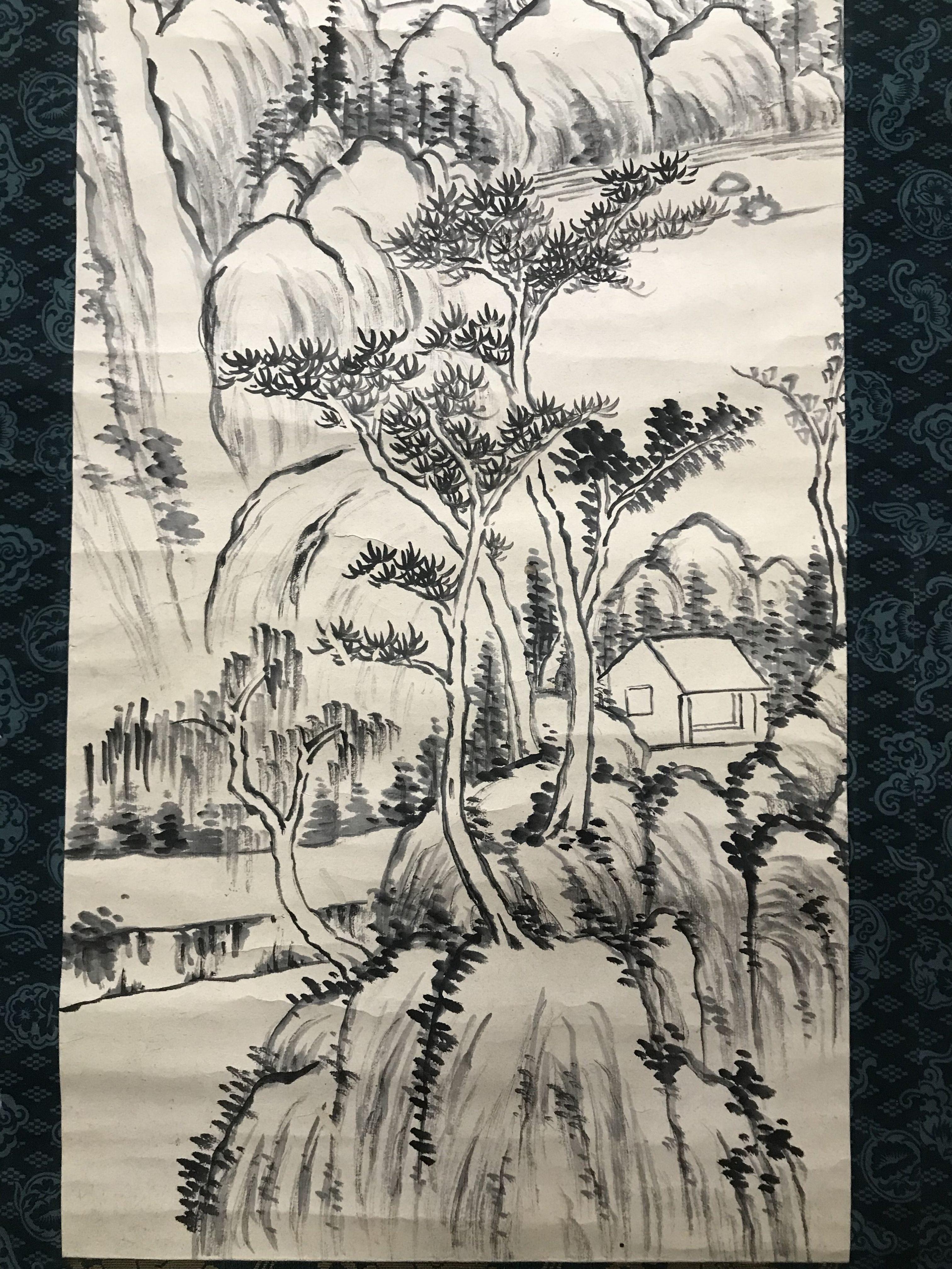 韓天寿 山水図
