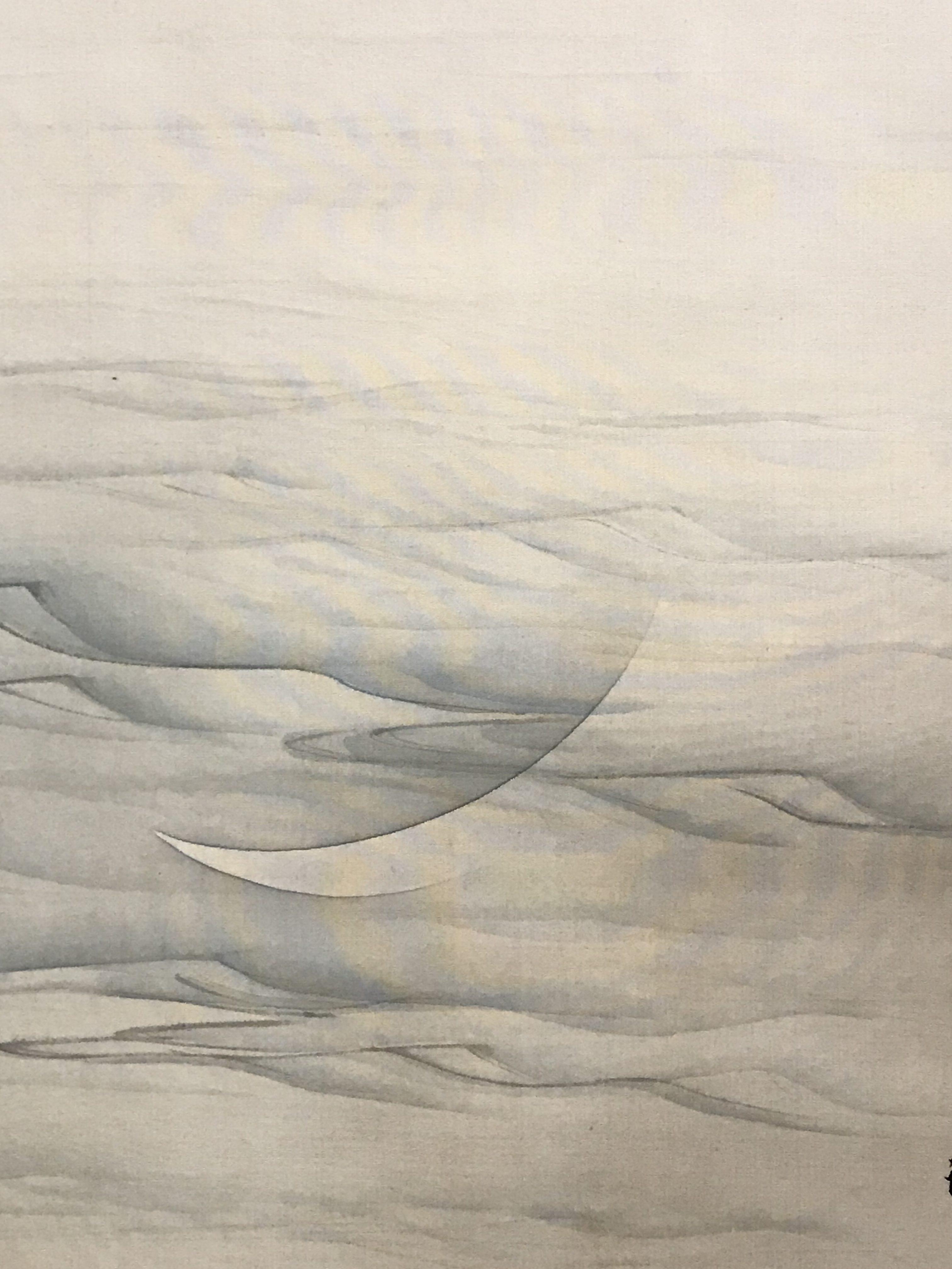望月玉渓 子規水月図