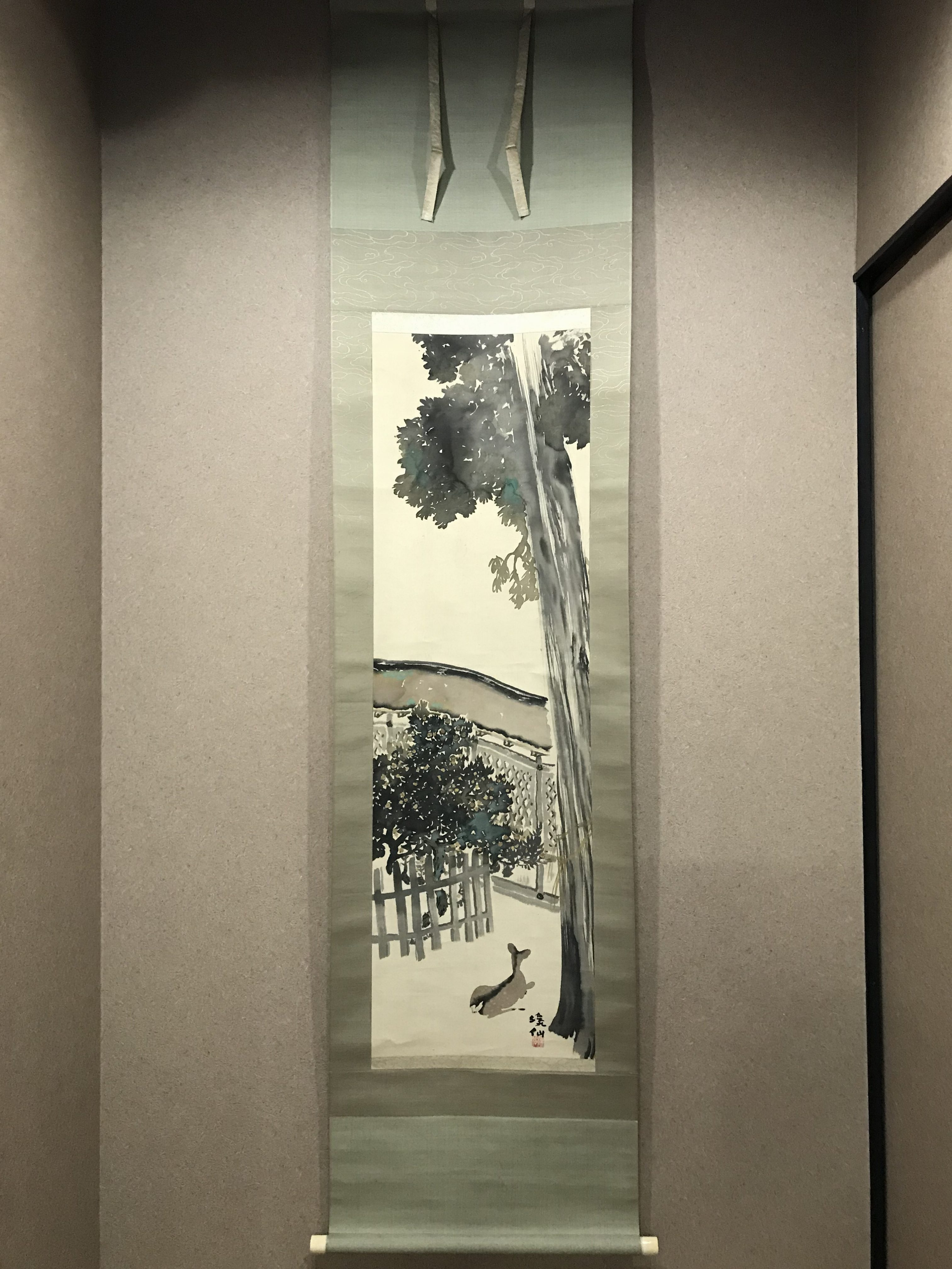 富田渓仙 社頭の杉図