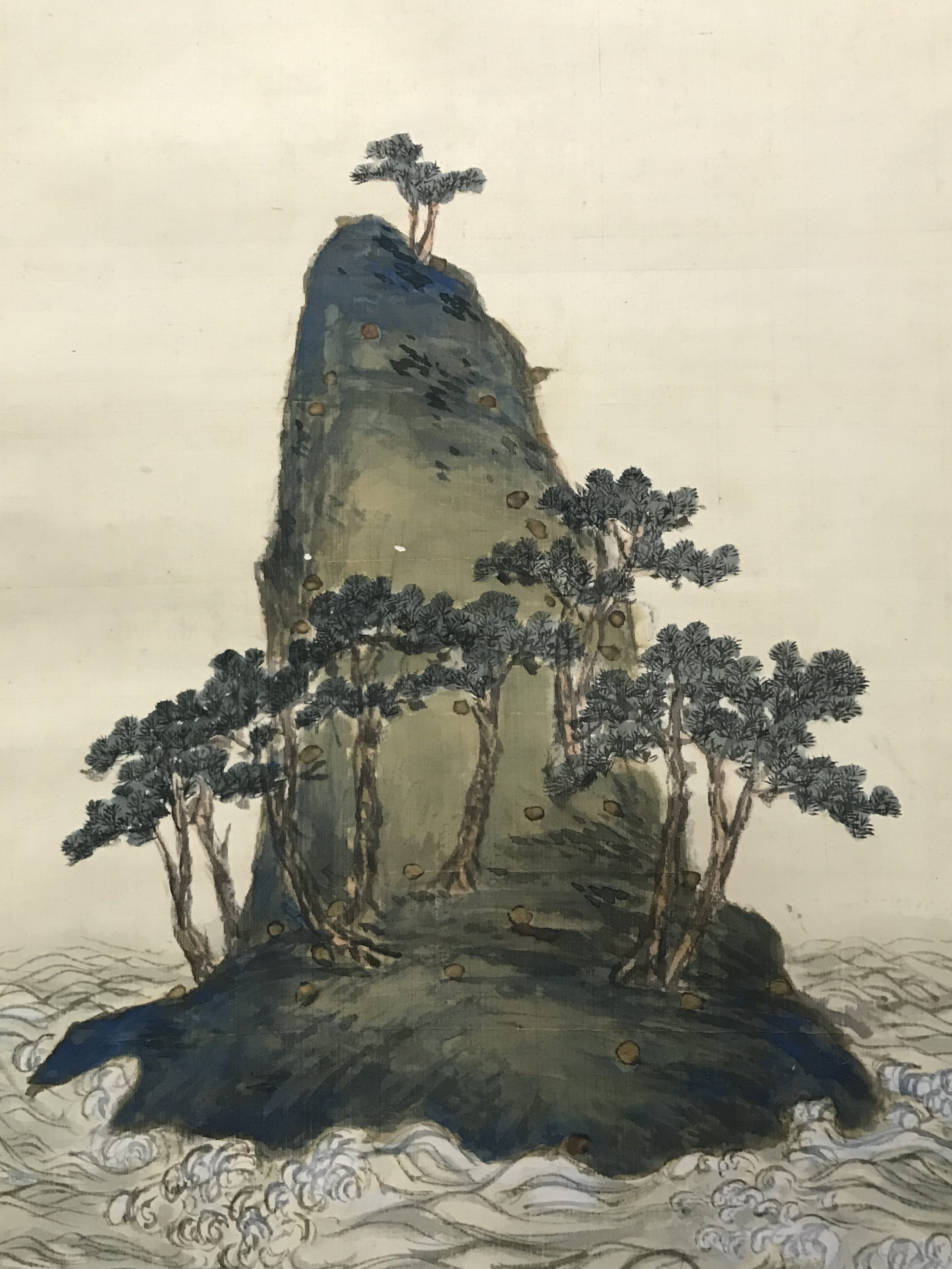 富岡鉄斎筆 おのころ島図